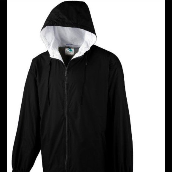 786dda9bf Men's Black Hoodie Windbreaker Jacket Zip up NWT NWT